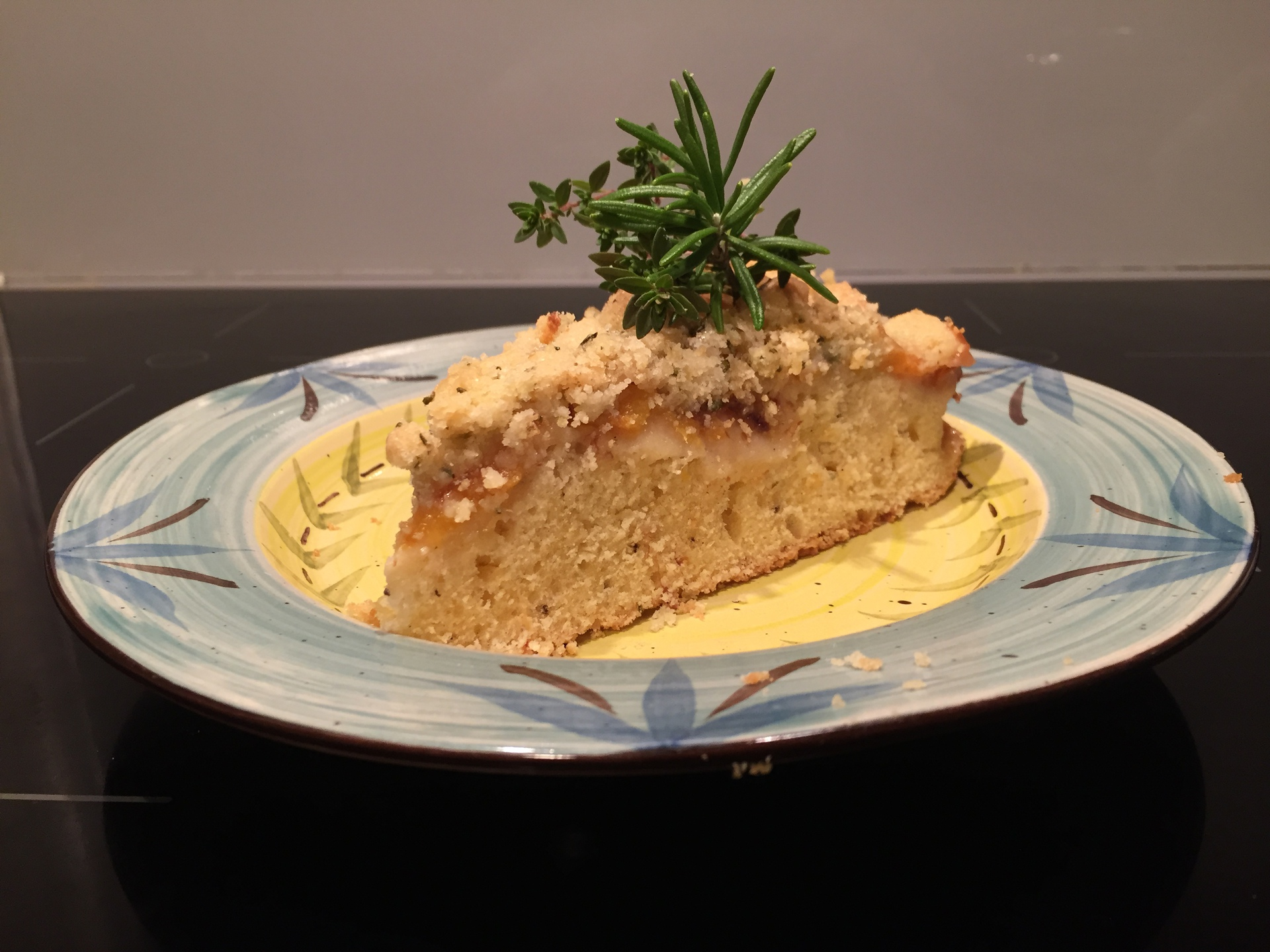 Peach Crumble With Rosemary and Lemon Thyme
