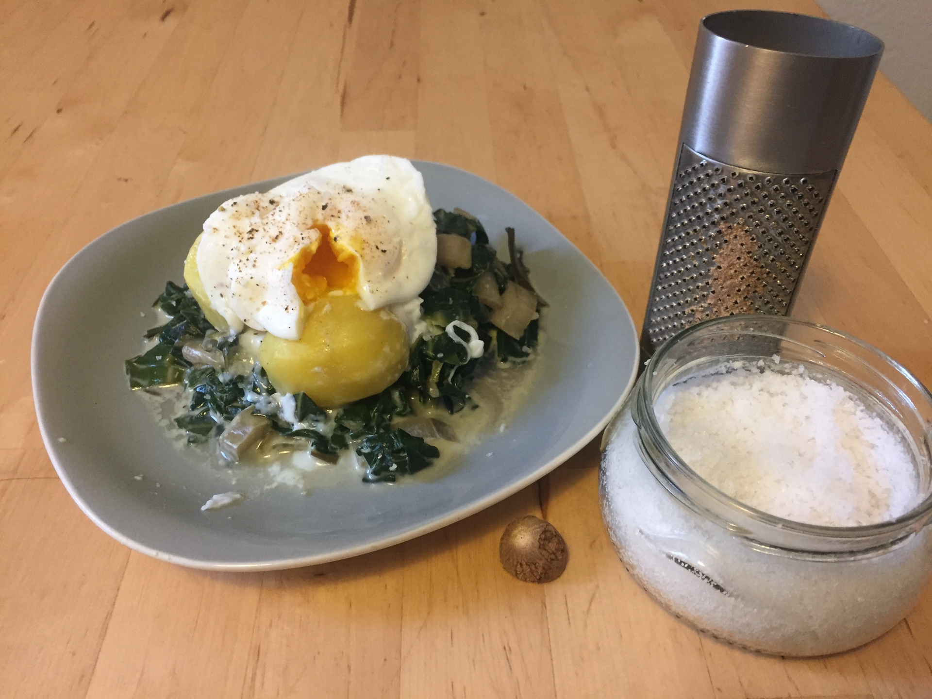 Poached Egg With Braised Chard