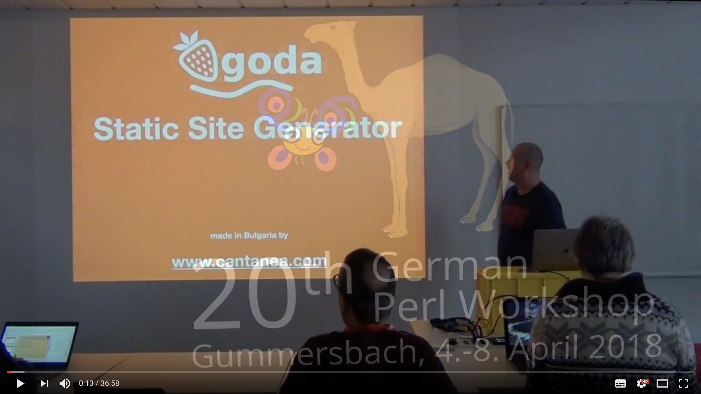 Video of the talk about Qgoda